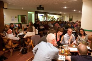 C7G6A5 Pub Quiz at nightime in British Public House. Photo:Jeff Gilbert